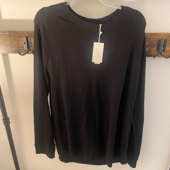 NWT Men's VINCE long sleeves solid black size XXL